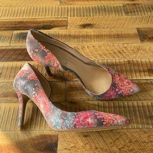 "Jessica Simpson ""Livvy"" Flower Pointed Toe heels"